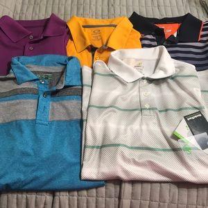 Lot of 5 men's golf shirts size L wholesale #5